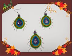 Ami Floare la Ureche: Quilled Peacock Feathers