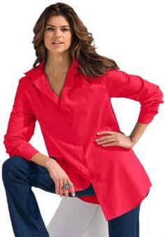 b55aaebf292 www.iwantobefitnow.tumblr.com  Roamans Plus Size Kate Bigshirt  PlusSize  Button