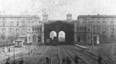 Der Hamburger Bahnhof in Berlin um 1848 (wurde noch vor dem Jahr 1900 ausser Betrieb genommen)