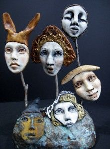 -creating individual faces from moulds. Lisa Renner