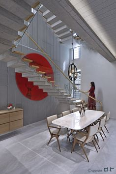 Home Stairs Design, Stair Design, House Design, Luxury Interior Design, Luxury Home Decor, Dinning Table, Dining Area, Canopy Design, House Stairs