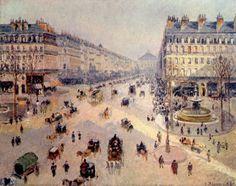Avenue de l'Opéra, soleil, matinée d'hiver - Pissarro
