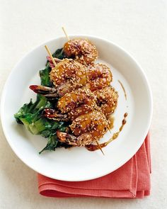 Skewered Sesame Shrimp