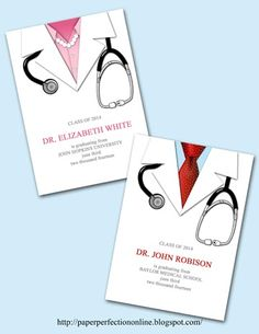 I received a request for a medical school invitation with a white doctors coat, pink shirt and pearls from a client that I work with all th...
