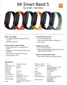 Xiaomi Mi Band 5 primește o nouă listă de specificații și apare la precomandă pe GearBest - Techway.ro Watch Faces, Smartwatch, True Colors, Smart Watch