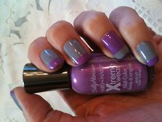 Purple and grey #nails