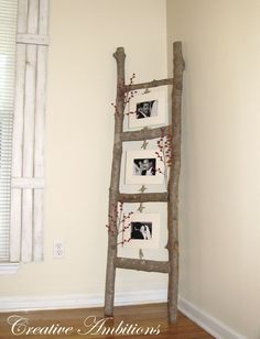 CREATIVE AMBITIONS: My Version of a Photo Ladder for Halloween pictures