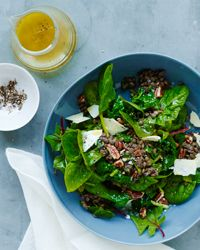 Lentil Salad with Spinach, Pecans, and Cheddar Recipe on Food & Wine