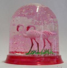 Flamingo snowglobe by Damsel51
