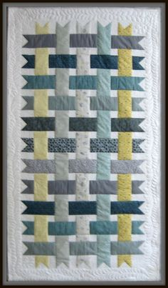 yellow gray white quilts - Google Search