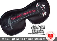 DESIGNER Schlafbrille SWEET DREAMS black von Schlafbrille-Reisebrille.com ✿oder✿ RooK-Style.com auf DaWanda.com
