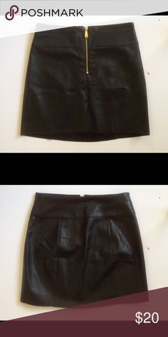 #Express Faux Leather Mini Skirt Only worn twice. Express Skirts Mini
