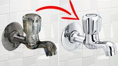 Clean Bathroom Taps - Home Cleaning Routine Bathroom Cleaning Hacks, Household Cleaning Tips, Toilet Cleaning, House Cleaning Tips, Deep Cleaning, Shower Taps, Bathroom Taps, Kitchen Taps, Cleaning