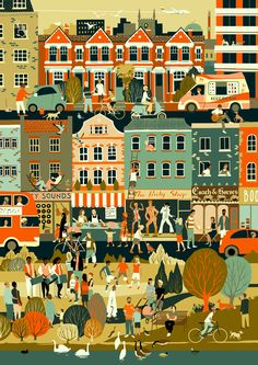 The Association of Illustrators (AOI) in partnership with London Transport Museum (LTM), is delighted to announce The Prize for Illustration This year the theme is Sounds of the City - an illustrated interpretation of urban sound. Children's Book Illustration, Graphic Design Illustration, London Transport Museum, Buch Design, Ligne Claire, Art Competitions, City Art, Illustrations And Posters, Photos