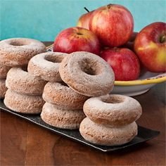 Gluten Free Apple Butter Maple Syrup Donuts, like autumn in Vermont - perfect with a mug of hot cider.