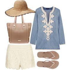 Weekend wear (J.Crew Soutache-embroidered chambray tunic $205)