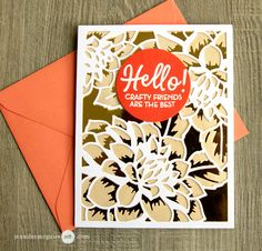 Use specialty paper to get a new look from layering dies. This fabulous card uses Altenew Layered Floral Cover Die A and B. www.altenew.com