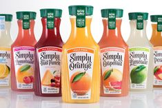 """CMA's final design reflects the brand's core messaging and values through a contemporary and clean look that focuses on being """"simple"""" while delivering a greater amount of taste-appeal. Juice Packaging, Beverage Packaging, Juice Bottles, Hot Sauce Bottles, Confort Food, Soda Brands, Juice Flavors, Juice Drinks, Starbucks Drinks"""