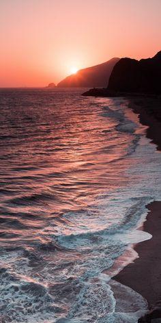 Beach sunset android wallpaper - Fushion News Watercolor Sunset, Sunset Art, Sunset Beach, Summer Sunset, Beach Sunset Painting, Sky Sunset, Beautiful Beach Sunset, Beach Sunsets, Sunset Canvas