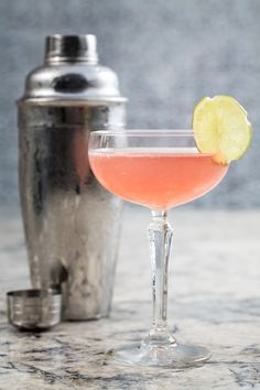 The pretty Pink Lady cocktail at Ritz Carlton Chicago (A Four Seasons Hotel) combines 1oz St Germain with 0.5 oz Aperol and 0.5 oz grapefruit juice, topped with brut cava for a floral and bubbly toast. #FSPinkTank