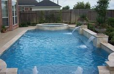 Beautiful Swimming Pool Sheer Descents | Contemporary Swimming Pools Design 17 U2014  Custom Outdoors   Let Us