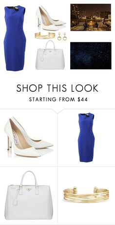 """""""Untitled #251"""" by mela-burgic ❤ liked on Polyvore featuring Jimmy Choo, Victoria Beckham, Prada, Stella & Dot and Gucci"""