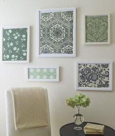 decorative paper in frames