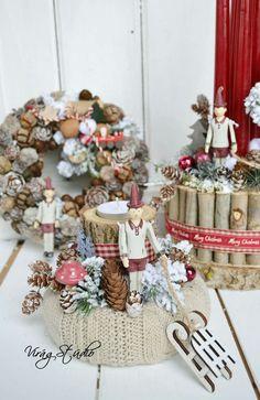 Winter Christmas, Christmas Wreaths, Xmas, Amigurumi Patterns, Crochet Patterns, Advent, Crochet Top Outfit, Christmas Arrangements, Cotton Pads