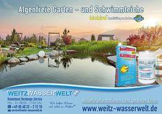Für jeden #Teich: das richtige Produkt!  Die beste Pflegelinie für prachtvolles, klares Wasser für ihren #Garten-, #Fisch- oder #Schwimmteich.  #BRILLIANT: Speziell für Schwimmteiche entwickelt, denn das #Wasser in Schwimmteichen sollte höchsten Qualitätsstandards entsprechen.  #ALGENKILLER Protect®: Unsere Nr. 1 im Säckchen gegen #Algen im gesamten Teich. Schützt Oberflächen von #Teichfolien, #Pumpen, #Schläuchen etc. - Jetzt mit zusätzlicher Qualitätsgarantie im #Alufolienbeutel.