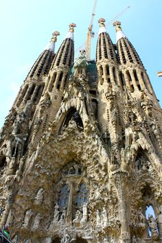 la sagrada familia....I made a pact in 8th grade to go back and see it when it was finished (in 50 years)...hopefully I get to do that!