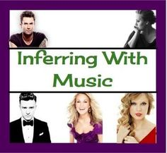 Teaching Inference and Predictions Through Music!  {Common Core}.  Your purchase includes 8 pages of worksheets that allow students to practice inferring and predicting with well known modern songs. They do this by answering questions about the lyrics!