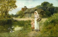 A Walk In The Country   by Henry John Yeend-King (1855 – 1924, English)