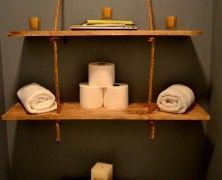 cheap rope shelf