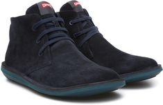 e485ce60258 Camper Beetle Mens Navy Blue Suede Lace Up Ankle Boots Shoes Size 9
