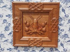 CLEARANCE SALE Celtic Knot Frame with by TheWoodGrainGallery