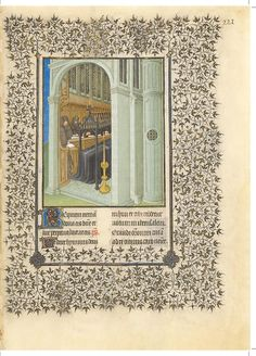 Belles Heures of Jean de France, duc de Berry, 1405–1408/9. Herman, Paul, and Jean de Limbourg (Franco-Netherlandish, active in France by 1399–1416). French; Made in Paris. Ink, tempera, and gold leaf on vellum; 9 3/8 x 6 5/8 in. (23.8 x 16.8 cm). The Metropolitan Museum of Art, New York, The Cloisters Collection, 1954 (54.1.1). Folio 221r