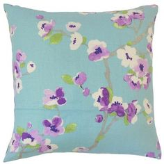 The Pillow Collection Dashania Floral Bedding Sham Size: Queen, Color: Turquoise