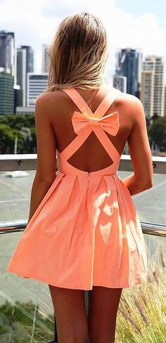 Cross over strap with bow design mini dress - Fashion Jot- Latest Trends of Fashion
