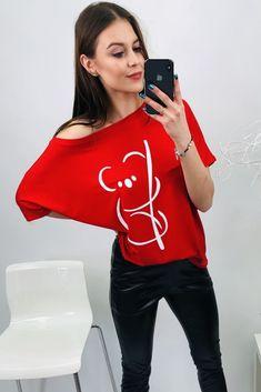Červená pánska blúzka koala One Shoulder, Blouse, Tops, Women, Fashion, Moda, Fashion Styles, Blouses, Fashion Illustrations