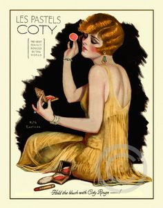 Boudoir Art Deco Lady print, Cody Lipstick Ad, Rouge makeup, Ruth Eastman Flapper Cosmetics  from 1926 Giclee Fine Art Print  11x14