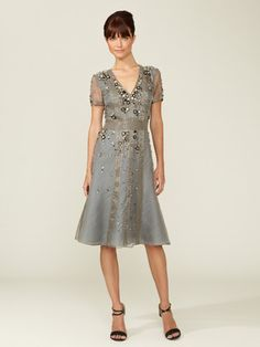 Carolina Herrera Jeweled Silk Dress - gorgeous!