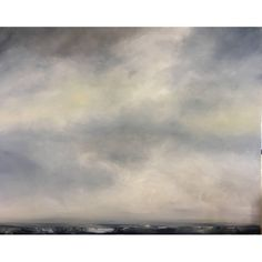 """Rebecca Ruoff, """"Cloud"""", Large Abstract Ocean Landscape in Blue and Grey    From a unique collection of antique and modern paintings at https://www.1stdibs.com/furniture/wall-decorations/paintings/"""