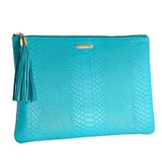 To compliment your chic style, this slim yet voluminous clutch can fit more then you would think! Aqua, Teal, Michael Kors Tote Bags, Turquoise Color, Tote Purse, Fashion Bags, Dress To Impress, Compliments, Uber