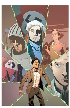 This is the retailer incentive cover for issue 8 of Doctor Who.    Line Art by Matthew Dow Smith  Colors by Charlie Kirchoff (me)