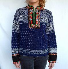 Nordic Ski | Rare Hand Knit 1940's Sweater  <3x3!