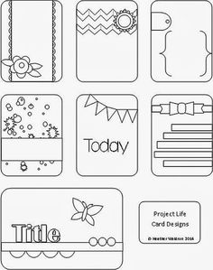 A Project life journal card ideas to make yourself