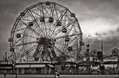 I'm originally from Brooklyn, NY. My parents live about ten minutes away from Cony Island. So of course, during my visit there, I had to take a shot of the wonderful and famous Wonder Wheel! Take A Shot, Christmas Mom, Coney Island, Places Ive Been, Brooklyn, Fair Grounds, Dreams, Black And White, World