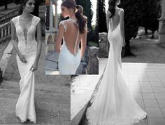 Find More Wedding Dresses Information about 2014 Sexy Mermaid V neck Lace Wedding Dresses Sweep Strain Bride Gowns Custom,High Quality gown picture,China dress patterns evening gowns Suppliers, Cheap dress birthday from anastasia wang's store on Aliexpress.com