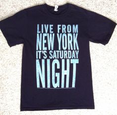 Unisex(Sm) Men/Women SATURDAY NIGHT LIVE T-SHIRT Live From New York Its Snl NAVY #Jerzees #GraphicTee