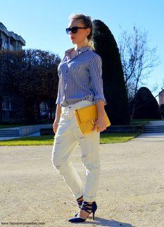 Aretas Outfits White Boyfriend Jeans Look  Spring Summer #kissmylook